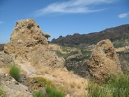 Пейзаж в горной части Калабрии. Вид с Pentadattilo