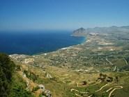 Вид из Эриче на Monte Cofano