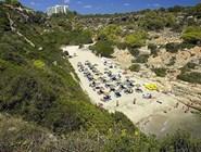 Живописный песочный пляж Antena, Майорка