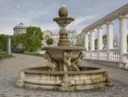 Фонтан в парке в Пятигорске