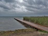 Деревянные мостки на Плещеевом озере