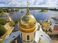 Вид с колокольни монастыря