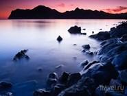 Вулкан Кара-Даг на закате
