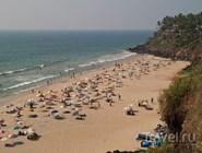 Песчаный пляж, Варкала, Керала