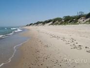 Песчано-галечный пляж, Куршская коса