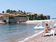 Мелкогалечный пляж, Свети-Стефан, Черногория