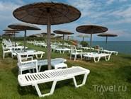 Травяной пляж, отель в Греции