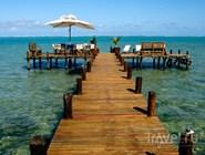Понтонный пляж, отель на Мадагаскаре