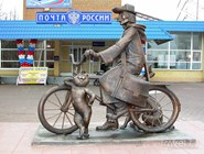Памятник почтальону Печкину в Луховицах