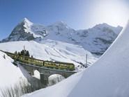 Панорамный поезд в Юнгфрау