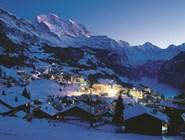 Панорама горнолыжного курорта Венген