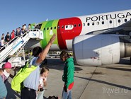 Посадка в самолет TAP Portugal