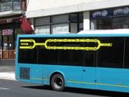 Схема куста маршрутов на борту автобуса