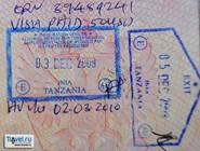 виза, въездной и выездной штампы