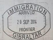 Гибралтар, въездной штамп