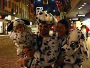 Семья далматинцев на карнавале в Беллинцоне