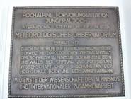 Памятная доска на вершине Юнгфрау