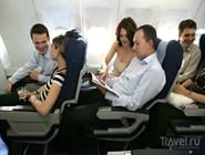 Экономический класс в самолете А340
