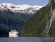 Ледник, лайнер, водопад