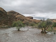 Вышедшая из берегов река Куйсеб
