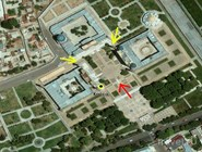 Схема входов на площадь