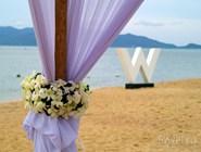 Убранство свадебного шатра в отеле W Retreat Ko Samui
