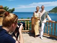 Фотосессия новобрачных в отеле Santhiya Resort and Spa Koh Phangan