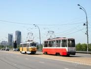 Трамваи на Строгинском шоссе