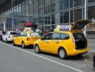Стоянка такси у Курского вокзала