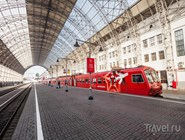 """Красный поезд """"Аэроэкспресса"""""""