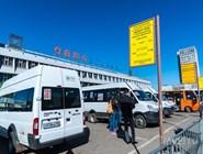 """Маршрутные такси у автовокзала на станции """"Щелковская"""""""