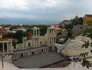 Вид на античный театр из кафе
