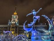 Традиционные новогодние ледовые скульптуры