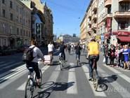 Велозаезд по центру Петербурга