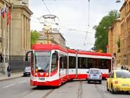 Городской трамвай в Санкт-Петербурге
