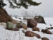 Зимний берег Чудского озера