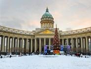 Новогодняя ель перед Казанским собором