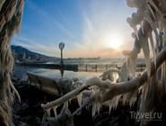 Морозное утро в Ялте