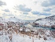 Балаклавская бухта под снегом