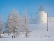 Казанский кремль под снегом