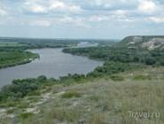 Вид с крутого правого берега Дона