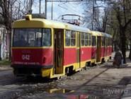 Трамвай на улице Краснодара