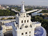 Вид на башню здания управления ЮВЖД с высоты птичьего полёта