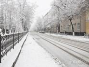 Улица Воронежа зимой