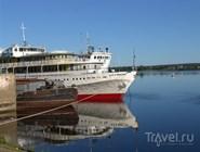 Корабли на пристани в Перми