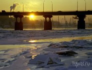 Река Кама во льдах