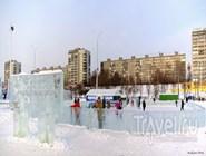 Новогодний парк на городской эспланаде