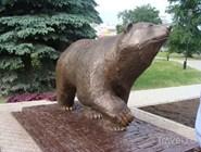 """Скульптура """"Легенды о пермском медведе"""""""