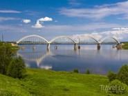 Мост через Волгу рядом с Рыбинском