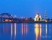 Ночная панорама Рыбинска